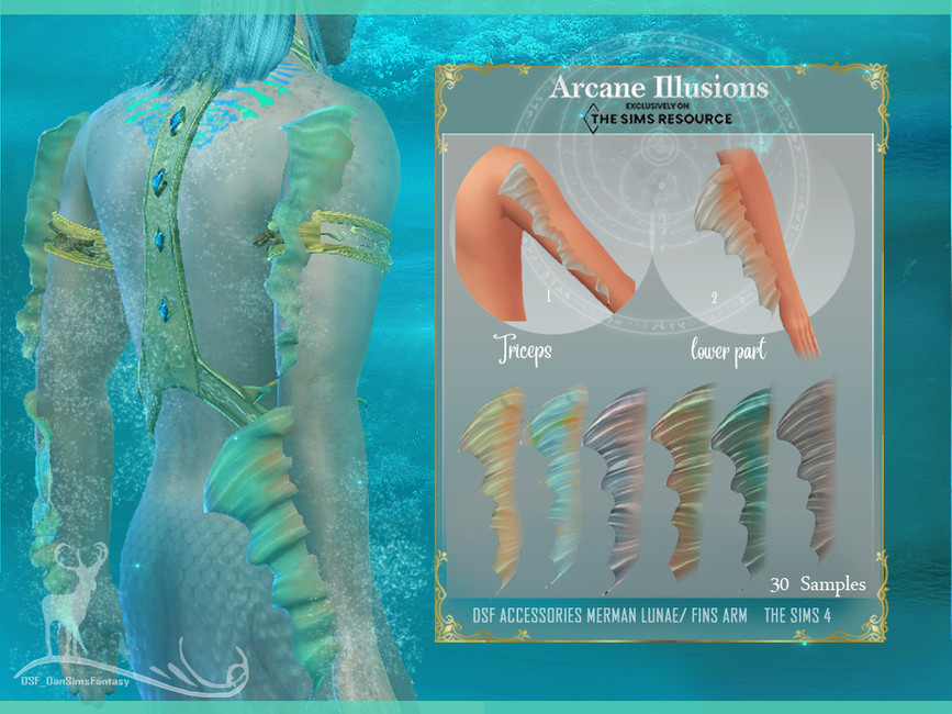 Аксессуары для русалки Симс 4 (картинка 2)