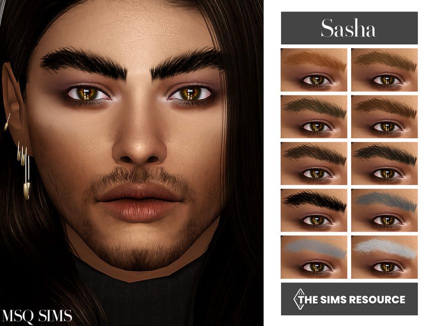 Брови Sasha Eyebrows Симс 4