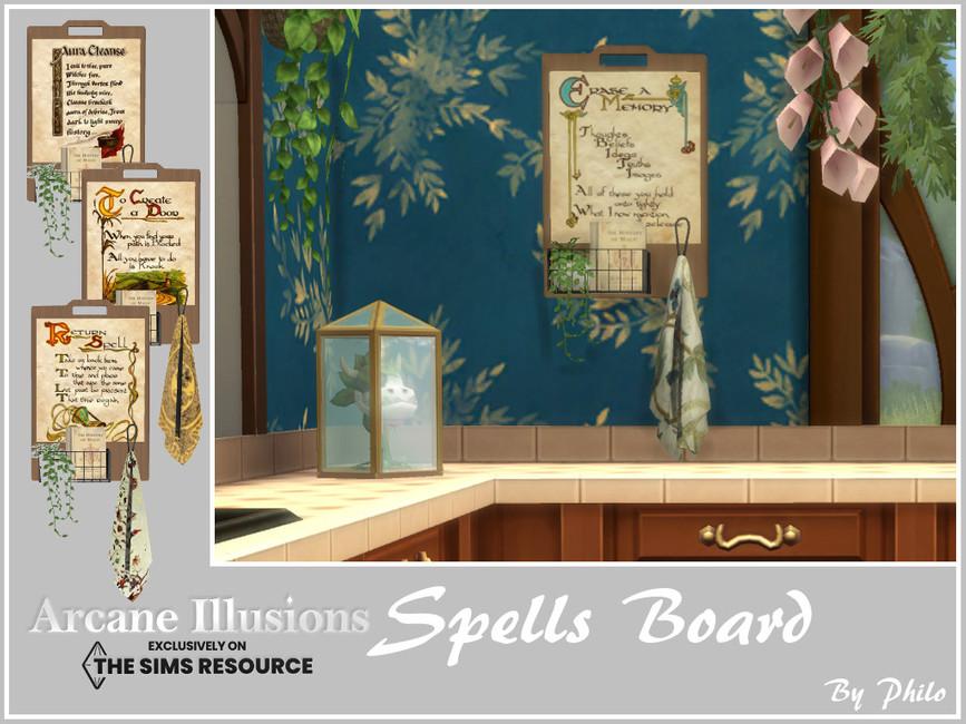 Декор Spells Board Симс 4