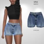 Джинсовые шорты Leyla Shorts Симс 4