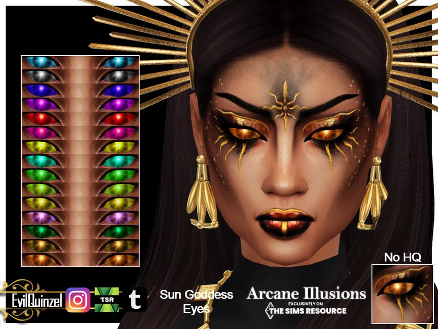 Глаза Sun Goddess Eyes Симс 4