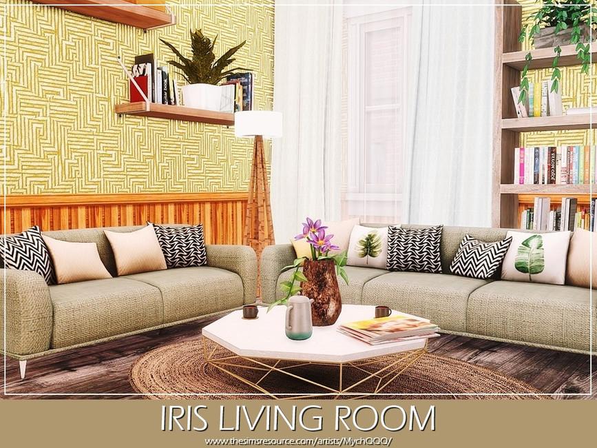 Гостиная Iris Living Room Симс 4
