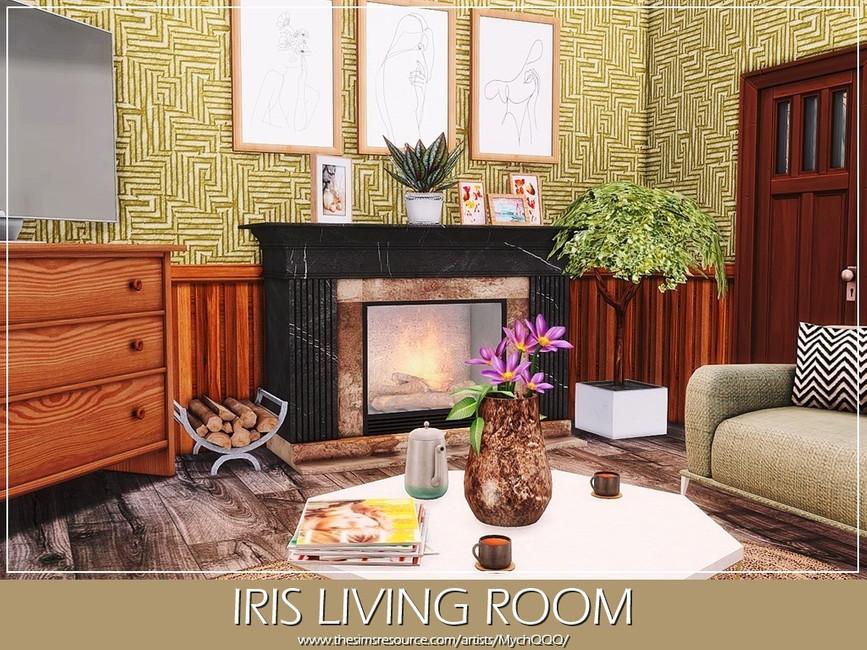 Гостиная Iris Living Room Симс 4 (картинка 3)
