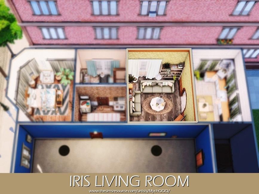 Гостиная Iris Living Room Симс 4 (картинка 5)