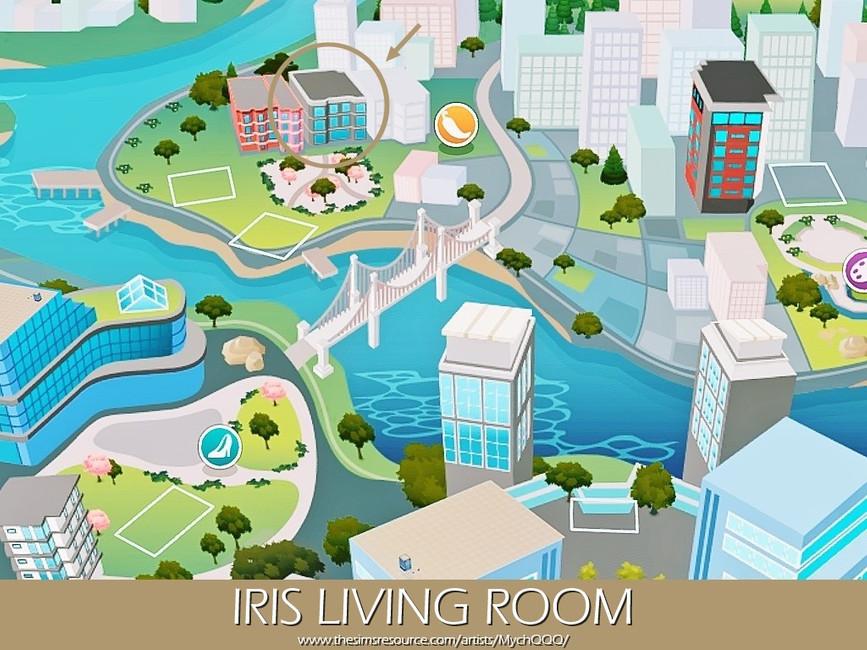 Гостиная Iris Living Room Симс 4 (картинка 6)
