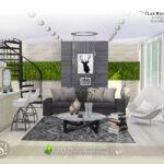 Гостиная Lux Radium Living Симс 4