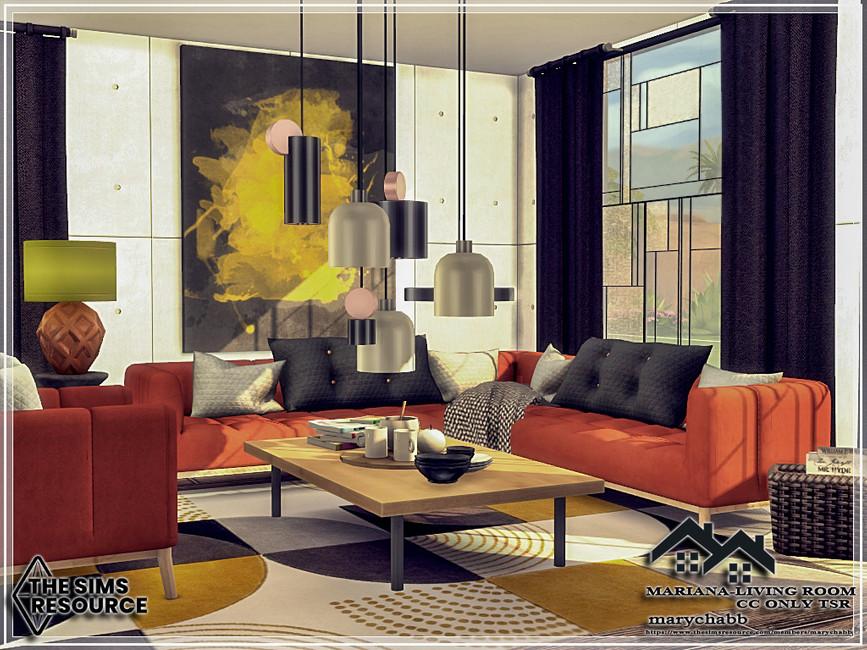 Гостиная Mariana - Living Room Симс 4 (картинка 2)