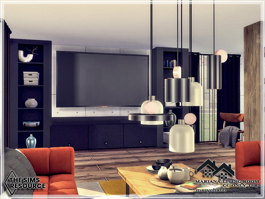 Гостиная Mariana - Living Room Симс 4 (картинка 3)