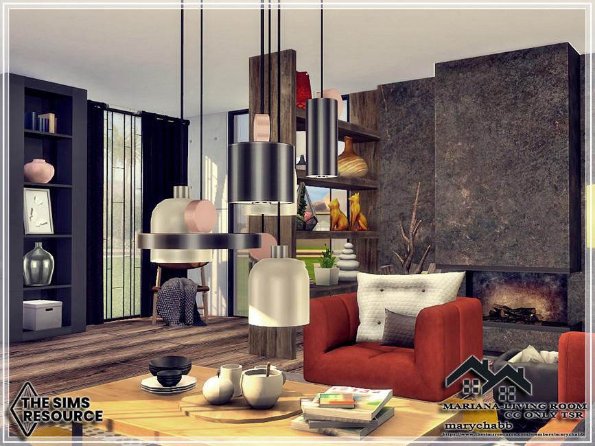 Гостиная Mariana - Living Room Симс 4 (картинка 4)