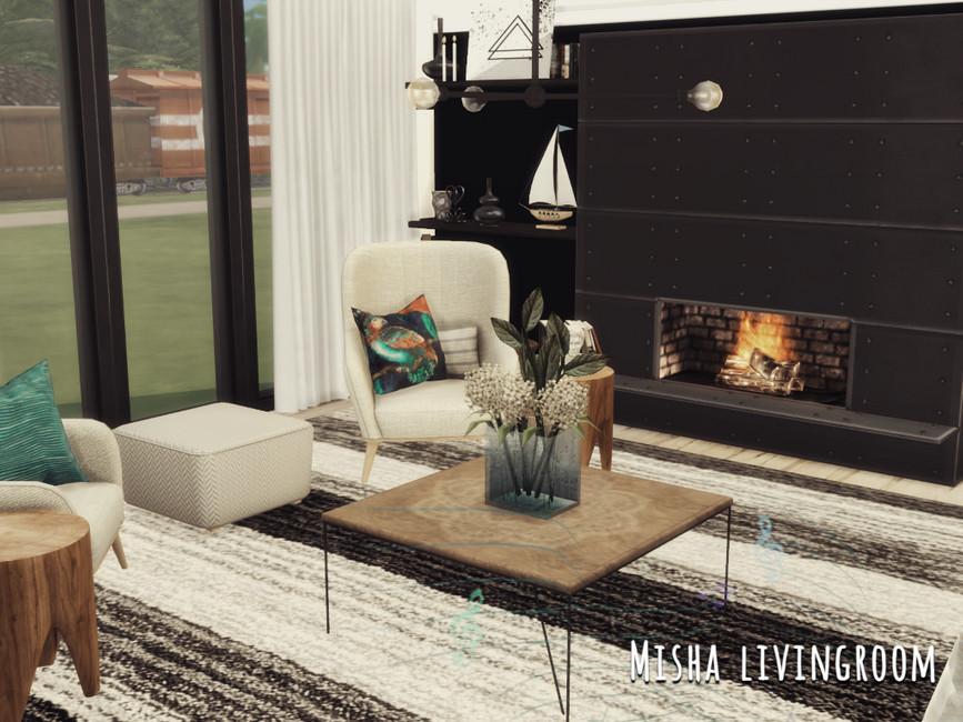 Гостиная Misha Livingroom Симс 4