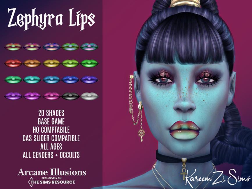 Губы Arcane Illusions Zephyra Lips Симс 4