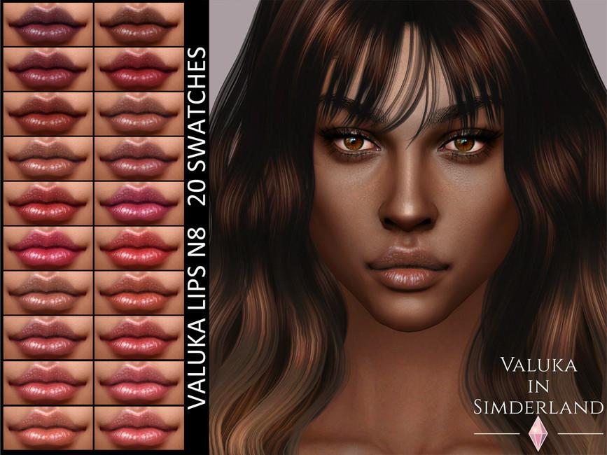 Губы Valuka Lips N8 Симс 4