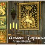 Картины Unicorn Tapestries Симс 4