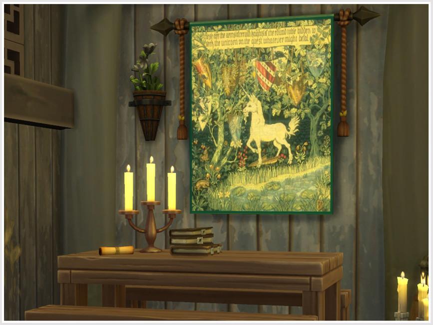 Картины Unicorn Tapestries Симс 4 (картинка 4)