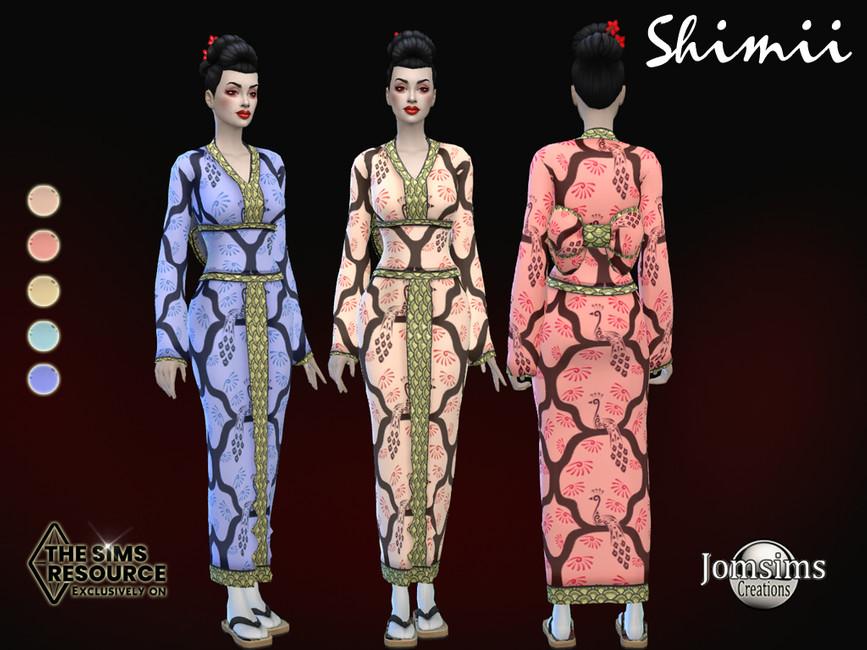Кимоно для женщин Симс 4