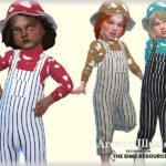 Комбинезон для малышей Mushroom Overalls Toddler Симс 4