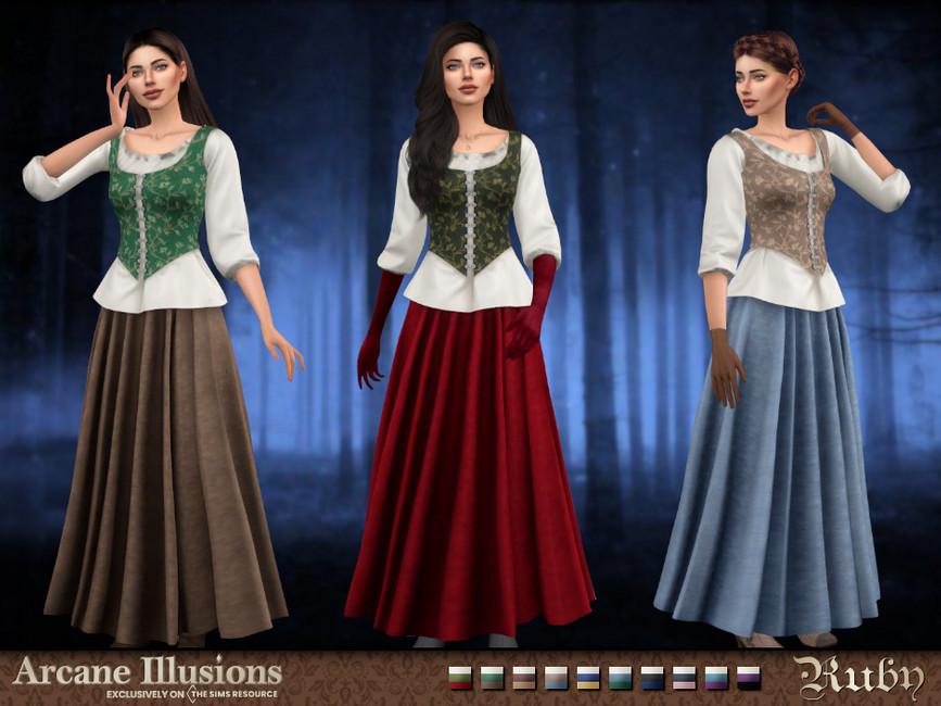 Костюм Ruby Outfit Симс 4
