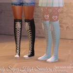 Кроссовки Wendy Super High Sneakers v1 Симс 4