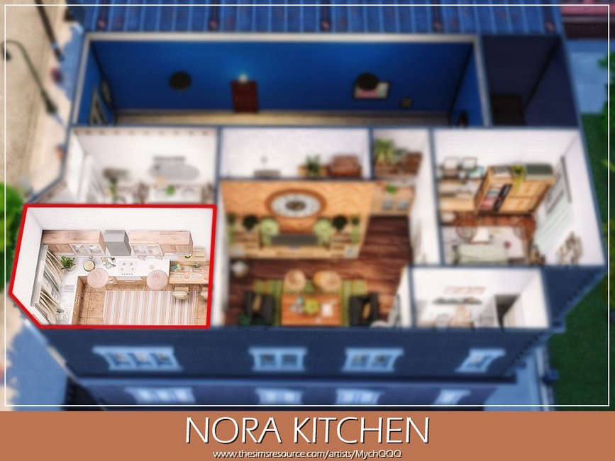 Кухня Nora Kitchen Симс 4 (картинка 7)