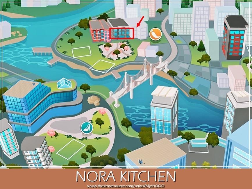 Кухня Nora Kitchen Симс 4 (картинка 8)