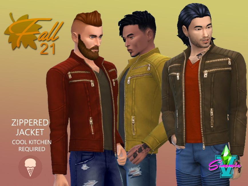 Куртка Fall21 Zipper Jacket Симс 4