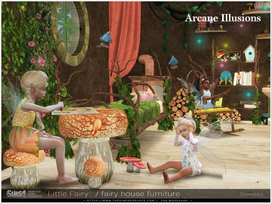 Мебель LittleFairy Furniture для Симс 4 (картинка 6)