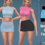 Мини юбка Delight Shirred Mini Skirt Симс 4