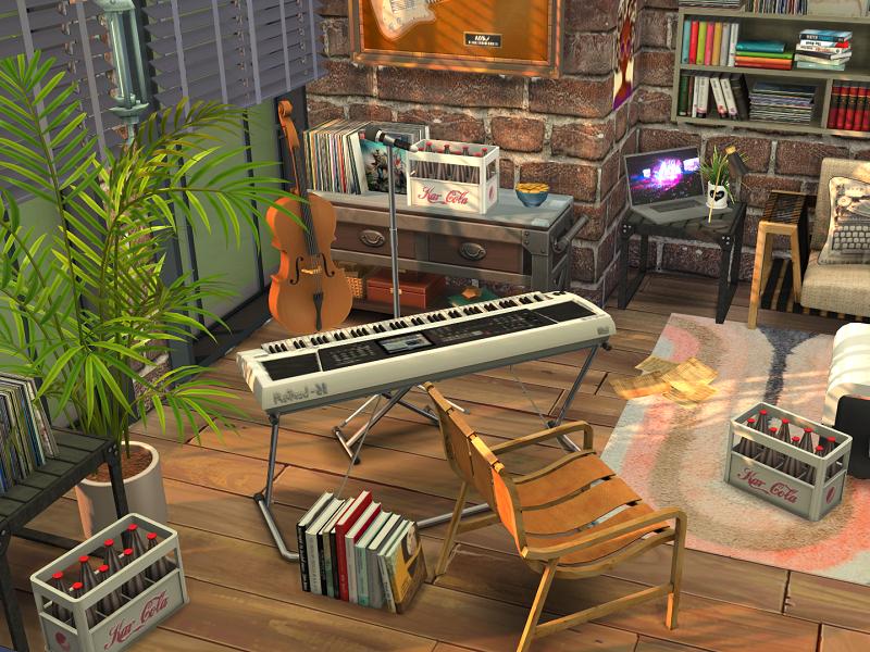 Музыкальная студия Симс 4 (картинка 4)