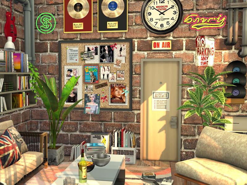 Музыкальная студия Симс 4 (картинка 7)