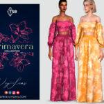 Набор одежды PRIMAVERA Collection - FLORAL SET (I) Симс 4