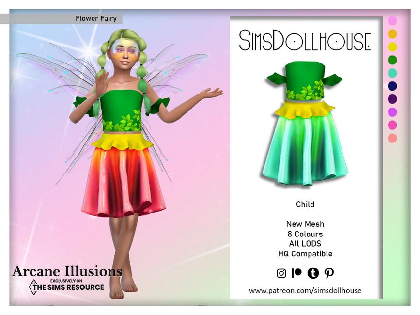 Наряд для детей Flower Fairy (Child) Симс 4