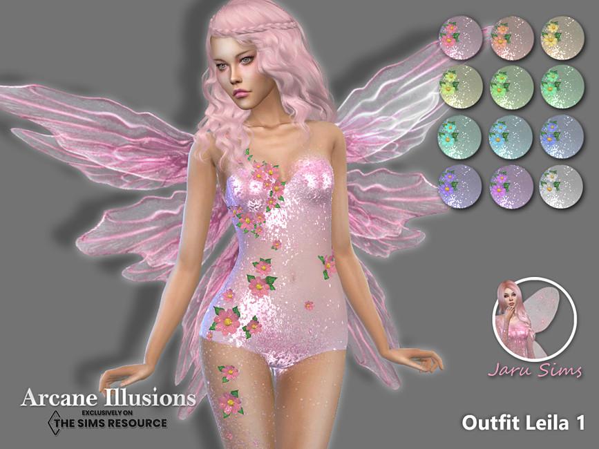 Наряд Outfit Leila 1 Симс 4
