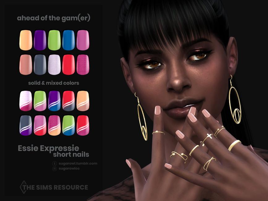 Ногти Ahead Of The Gamer Essie Expressie short nails Симс 4