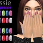 Ногти Essie Expressie Short Natural Nails Симс 4