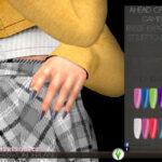 Ногти Essie Expressie Stiletto Nails Симс 4