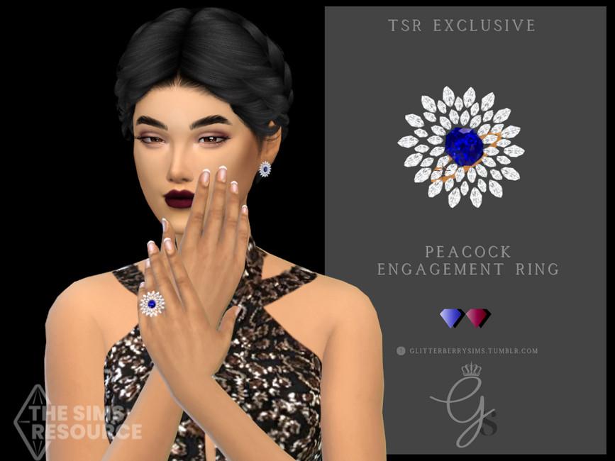 Обручальное кольцо Peacock Engagement Ring Симс 4