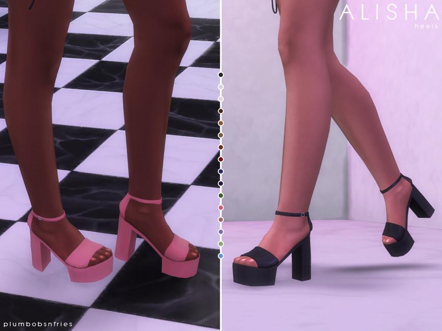 Обувь ALISHA Heels Симс 4