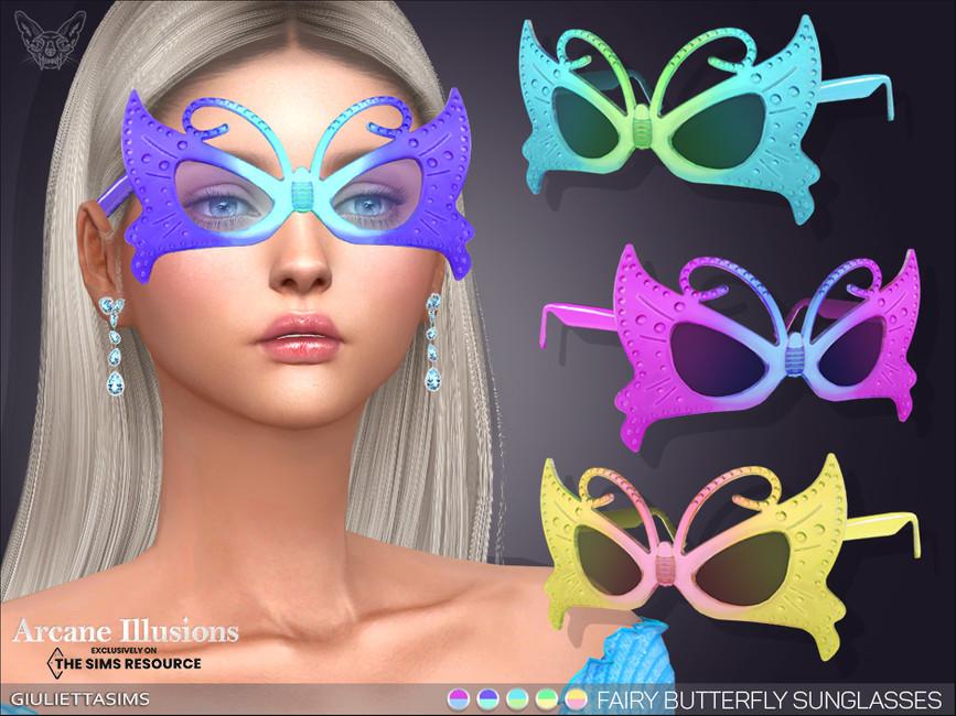 Очки Fairy Butterfly Sunglasses Симс 4