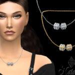 Ожерелье Cube Pave Chain Necklace Симс 4