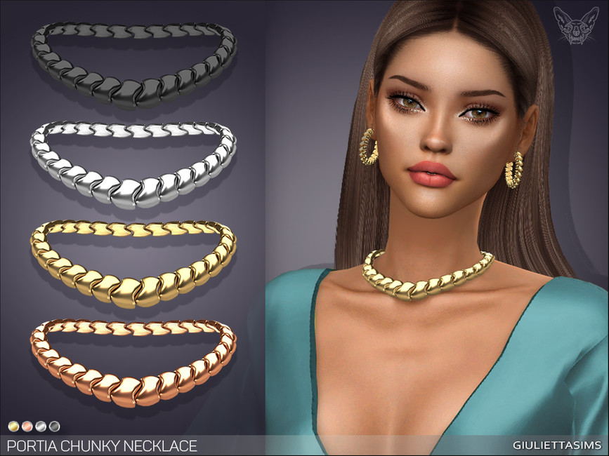 Ожерелье Portia Necklace Симс 4
