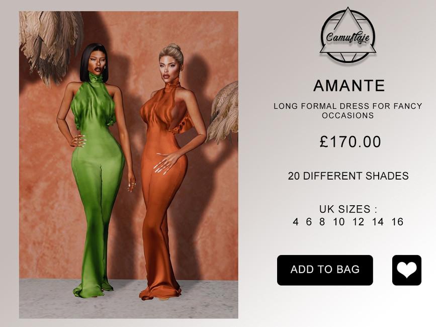 Платье Amante Dress Симс 4