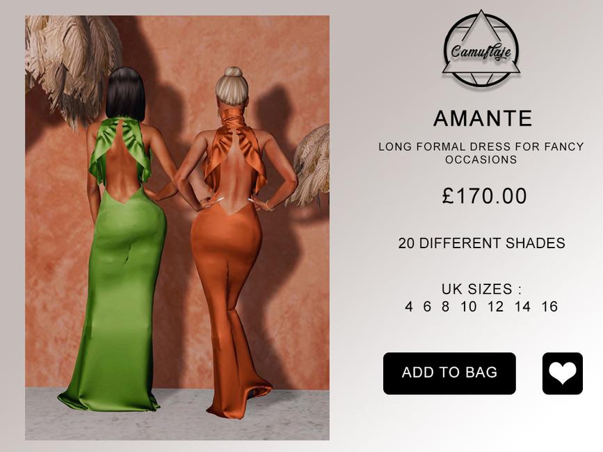 Платье Amante Dress Симс 4 (картинка 2)