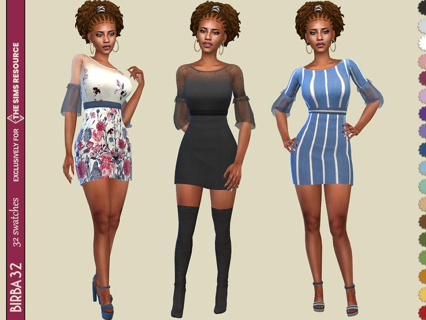 Платье Carolina Dress Симс 4