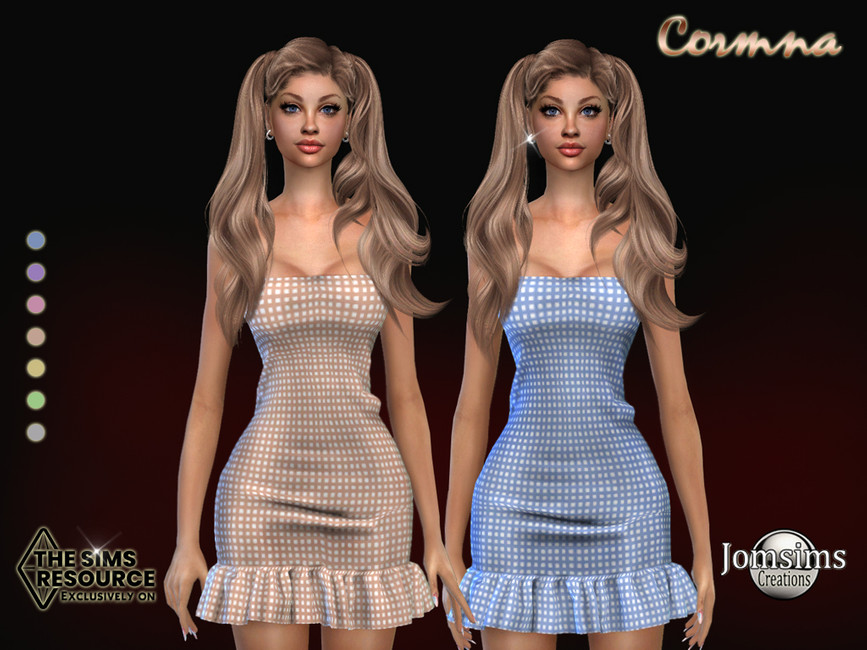 Платье Cormna Dress Симс 4