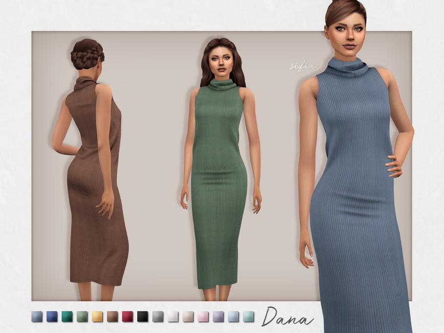 Платье Dana Dress Симс 4