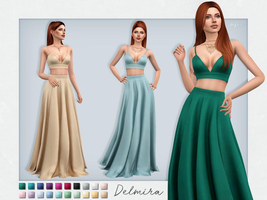 Платье Delmira Dress Симс 4