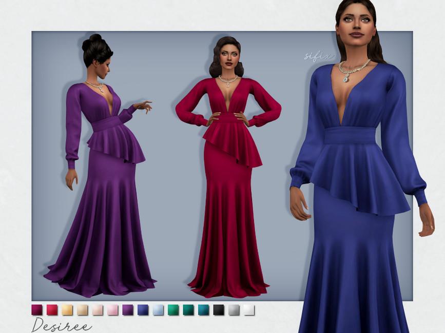 Платье Desiree Dress Симс 4