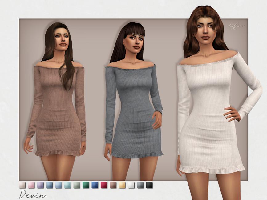 Платье Devin Dress Симс 4