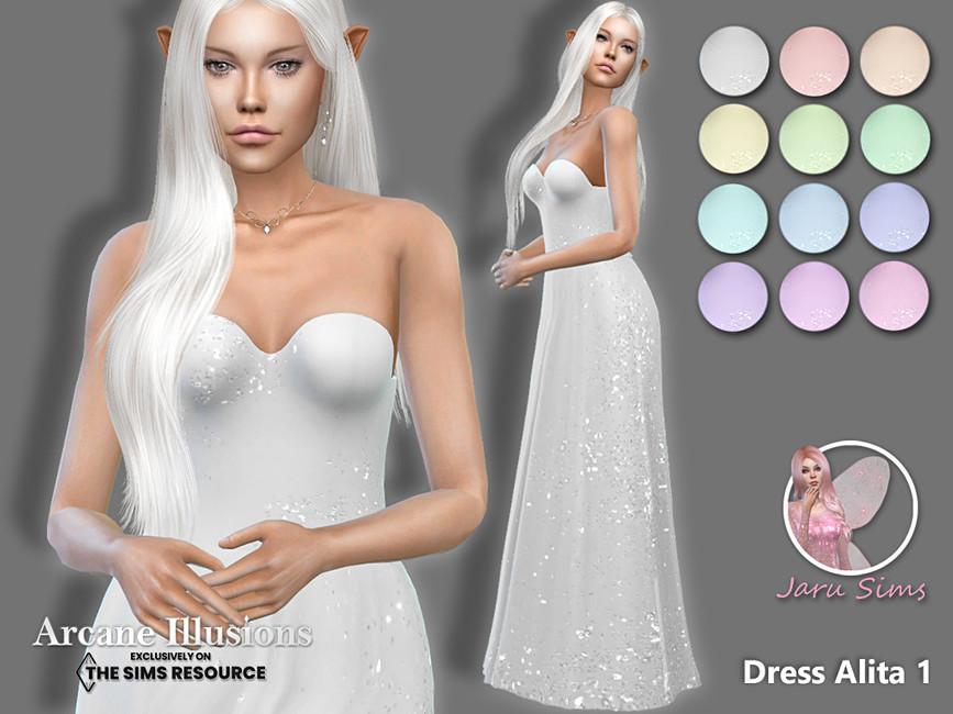 Платье Dress Alita 1 Симс 4