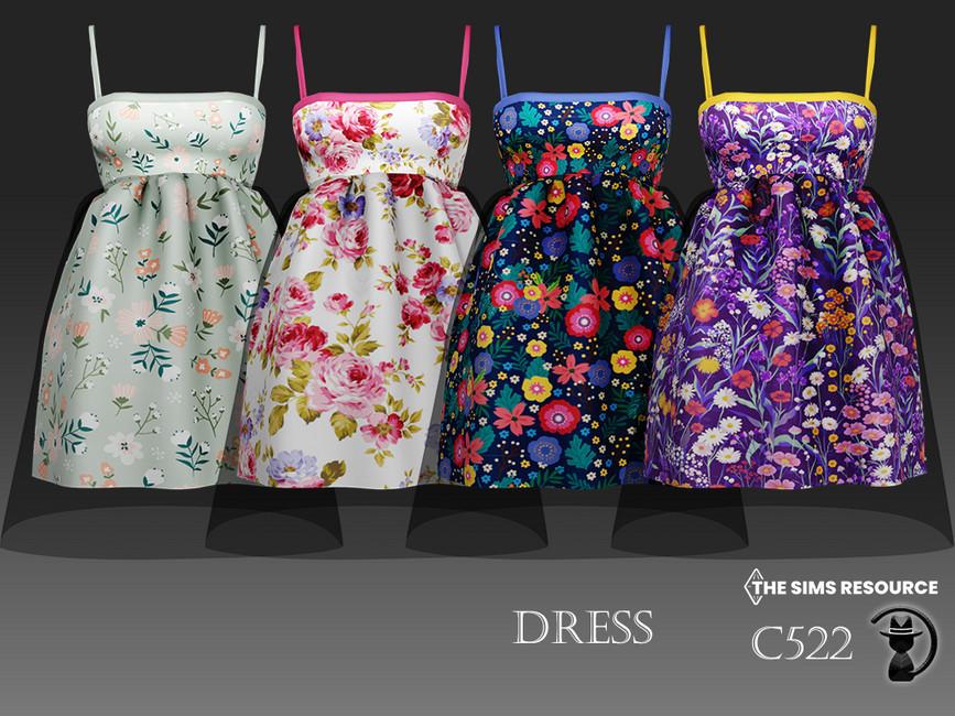 Платье Dress C522 Симс 4 (картинка 2)